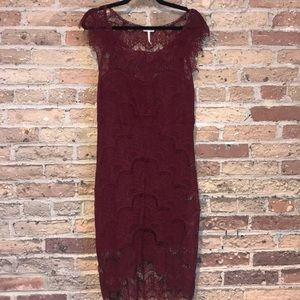 FREE PEOPLE LACE DRESS SZ M